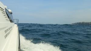 Kapal pengawas melaksanakan kegiatan rutin di perairan Gunung Kidul, DIY